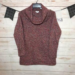 Pure Jill Marled Turtleneck Lose Fit Tunic Sweater